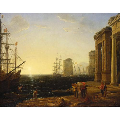 Claude Lorrain, Harbour Scene at Sunset, 1643. Royal Collection Trust/© Her Majesty Queen Elizabeth II 2020