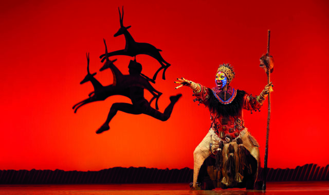 The Lion King Musical on stage at Lyceum Theatre, London