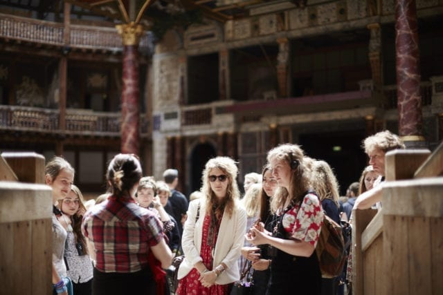 Visitors at Shakespeare's Globe