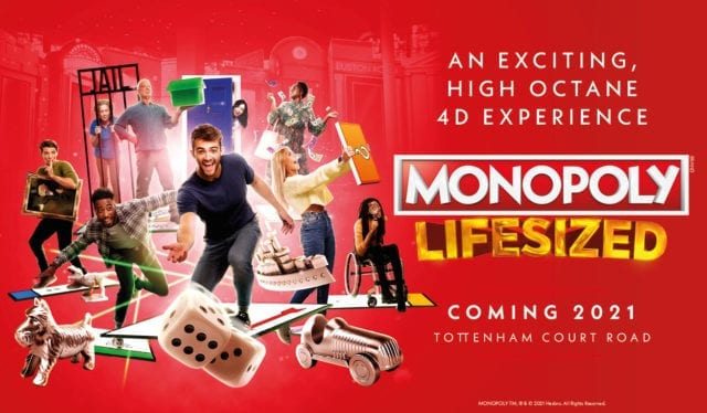 Monopoly Lifesized banner ad. Coming 14 August 2021.