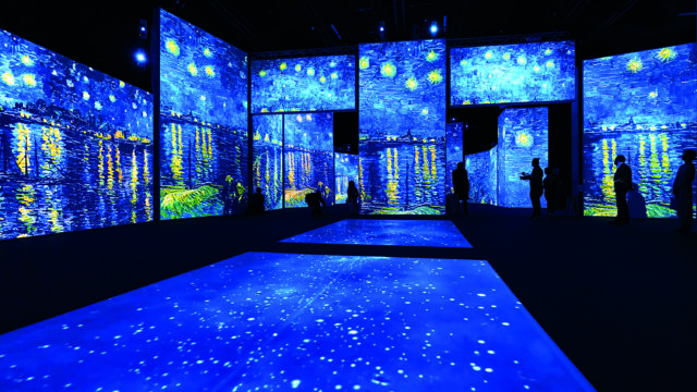 Van Gogh Alive, immersive, multi-sensory exhibition featuring light, colour, sound and fragrance throughout bringing the famous artworks to life. At London's Kensington Gardens until September 26, 2021