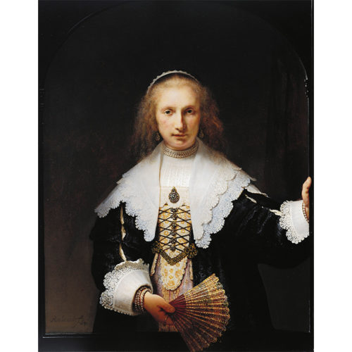 Rembrandt van Rijn, Portrait of Agatha Bas ('Lady with a Fan'), 1641. Royal Collection Trust/© Her Majesty Queen Elizabeth II.