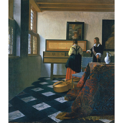 Johannes Vermeer, A Lady at the Virginals with a Gentleman ('The Music Lesson'), early 1660s. Royal Collection Trust/© Her Majesty Queen Elizabeth II.