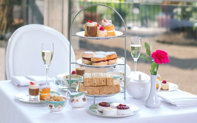 The Pavilion Restaurant and Tea Room. Situated opposite the sunken garden, afternoon tea on the terrace at Kensington Palace.