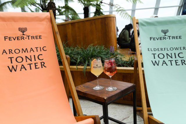 Fever Tree have opened a pop up gin bar at Sky Garden, Monument, in London
