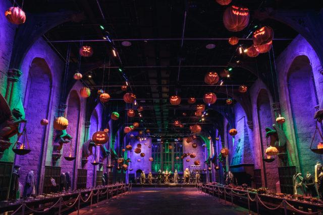 Warner Bros Dark Arts Pumpkins in the Great Hall