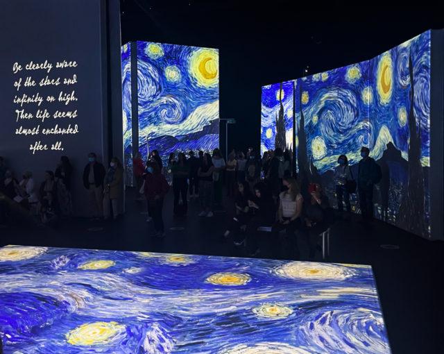 Van Gogh Alive London. Starry Night by Vincent Van Gogh